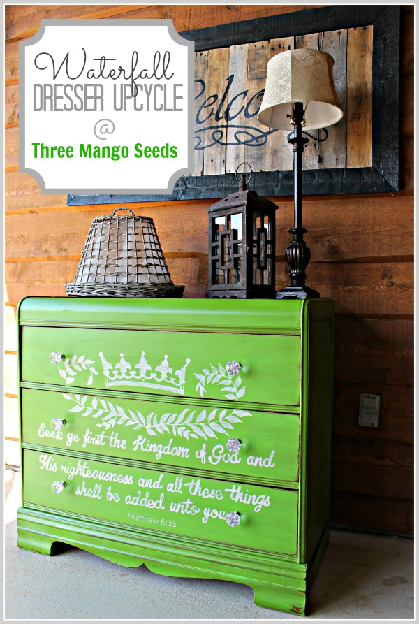 Green dresser by Three Mango Seeds