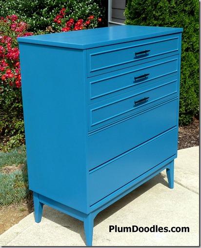 Teal blue dresser by Plum Doodles