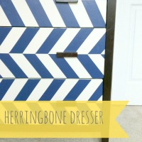 Herringbone Dresser – Guest Post from 2 Little Superheroes