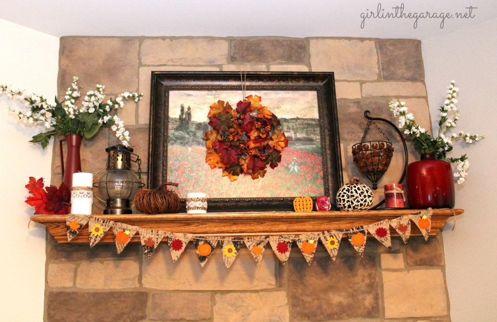 Fall Banner amp Mantel Girl In The Garage