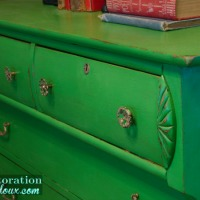 Green Antique Dresser – Guest Post from Restoration Redoux
