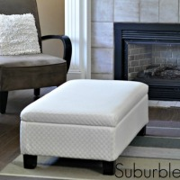 Recovered Ottoman Makeover – Guest Post from Suburble