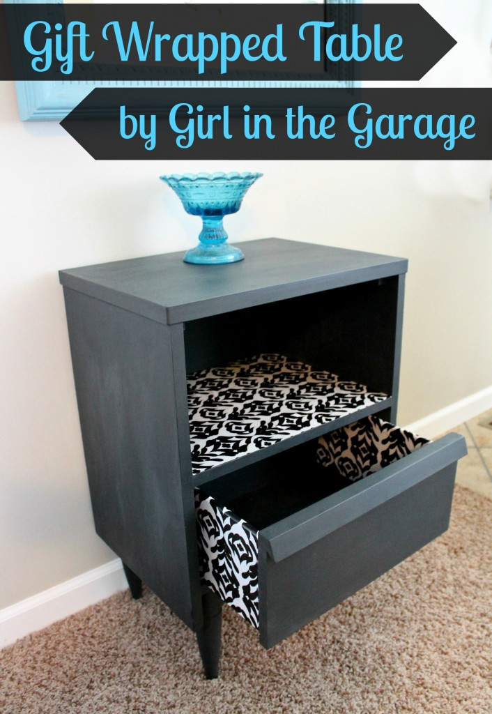 How to decoupage a table with wrapping paper - Mod Podge and Annie Sloan Chalk Paint - DIY tutorial by Girl in the Garage