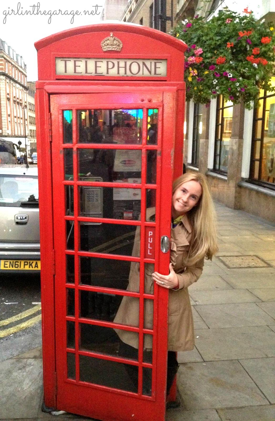 London phone booth - girlinthegarage.net
