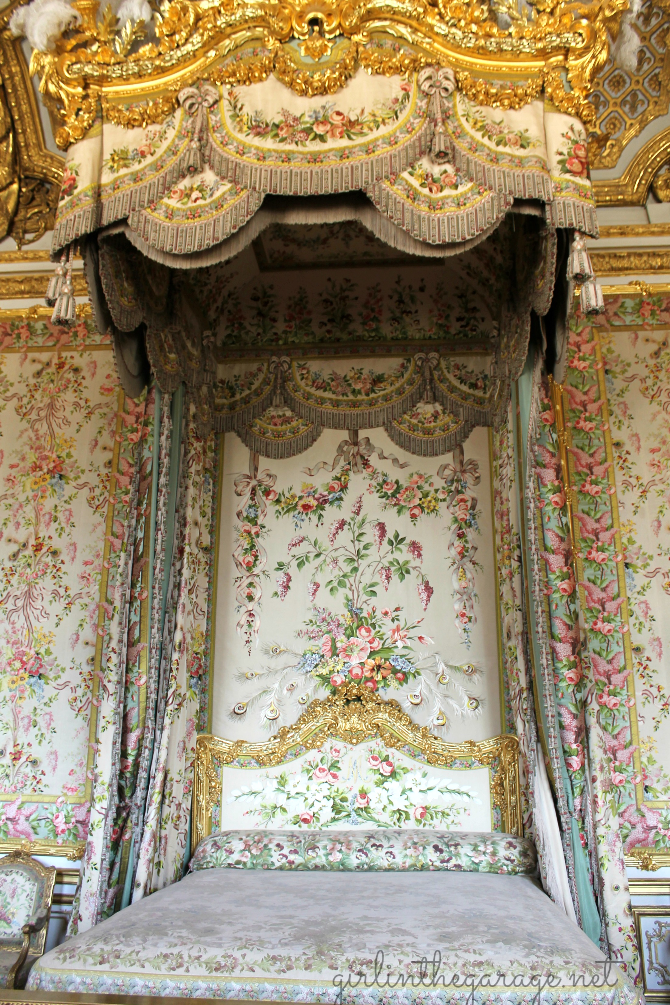 Brilliant Img 1289 Versailles Marie Antoinette Bedroom Girl In The Home Interior And Landscaping Palasignezvosmurscom