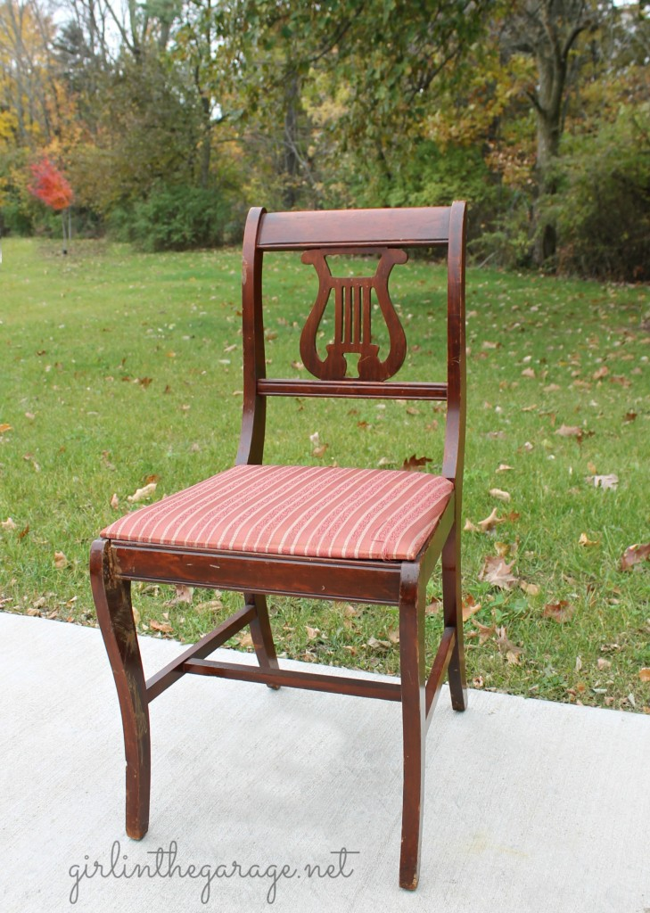 Here's ... - Vintage Lyre Chair Girl In The Garage®