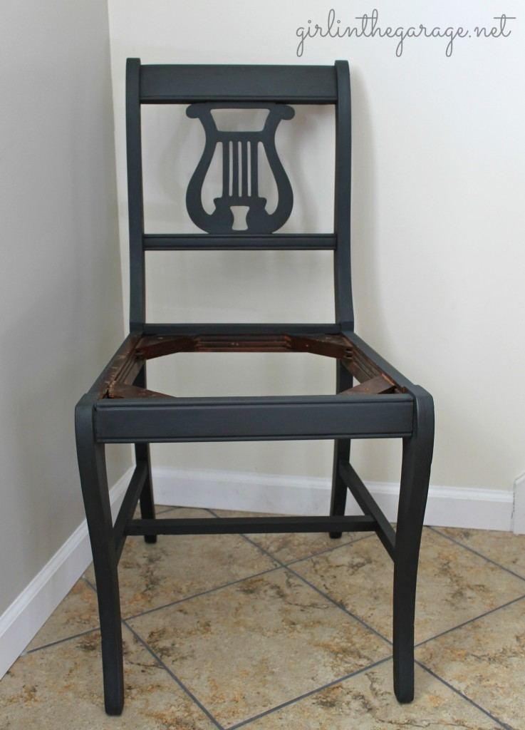The seat ... - Vintage Lyre Chair Girl In The Garage®