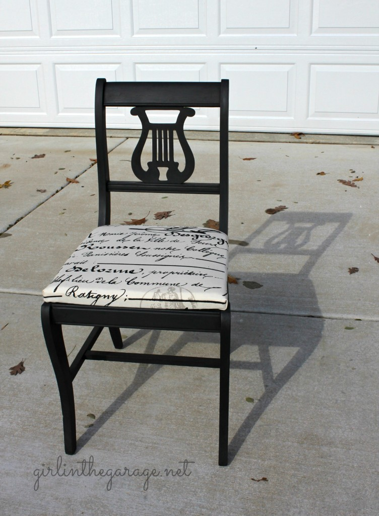 Making ... - Vintage Lyre Chair Girl In The Garage®