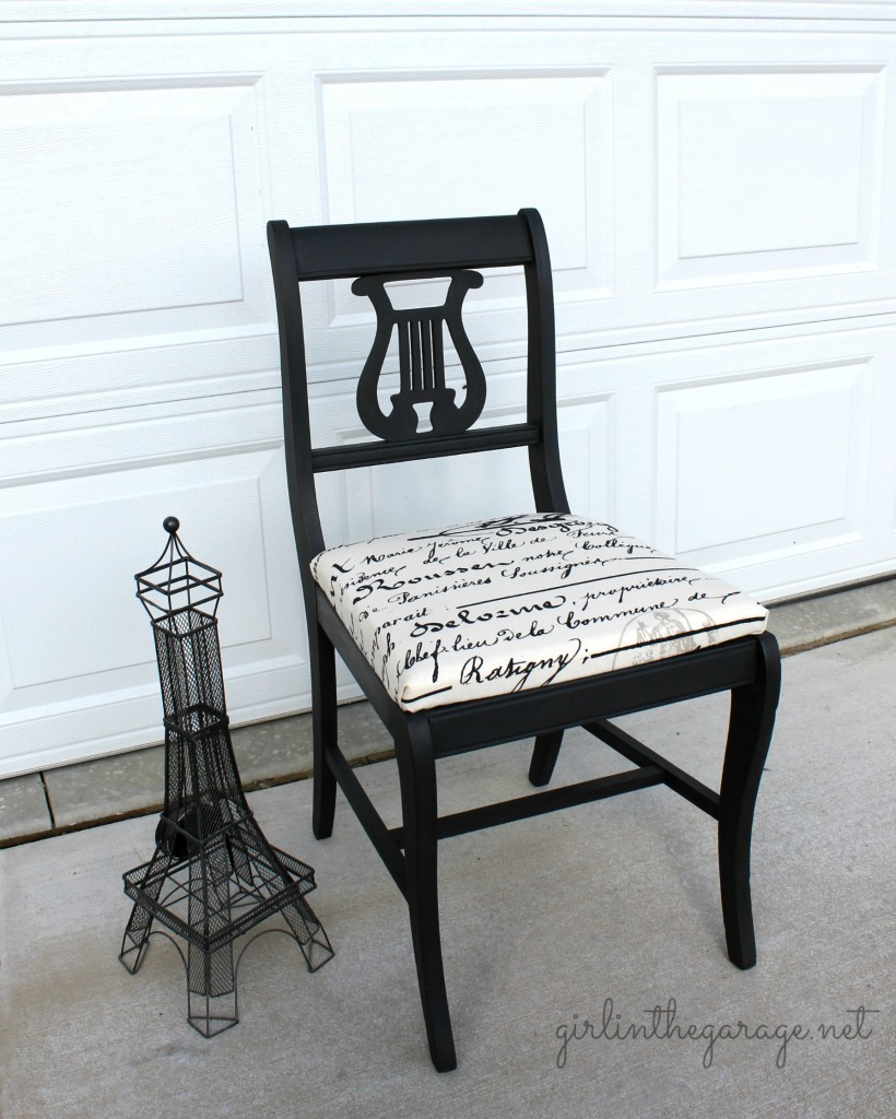 This is how this vintage lyre-back chair ... - Vintage Lyre Chair Girl In The Garage®