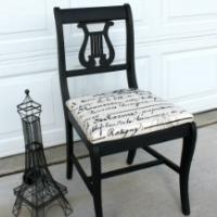 Vintage Lyre Chair