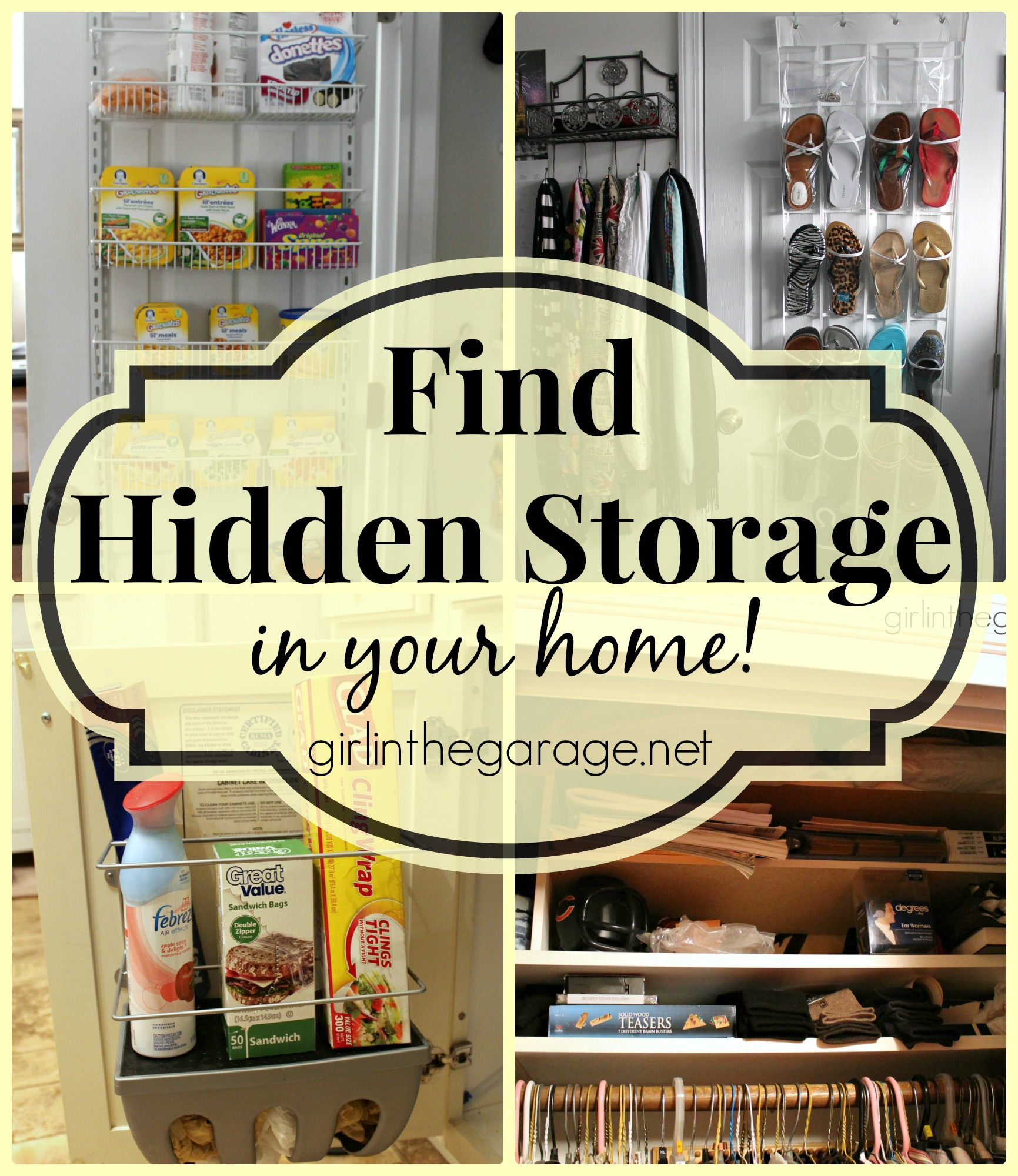 Find hidden storage in your home girl in the garage - Food in the bedroom ideas ...