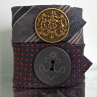 Necktie Cuff Bracelet