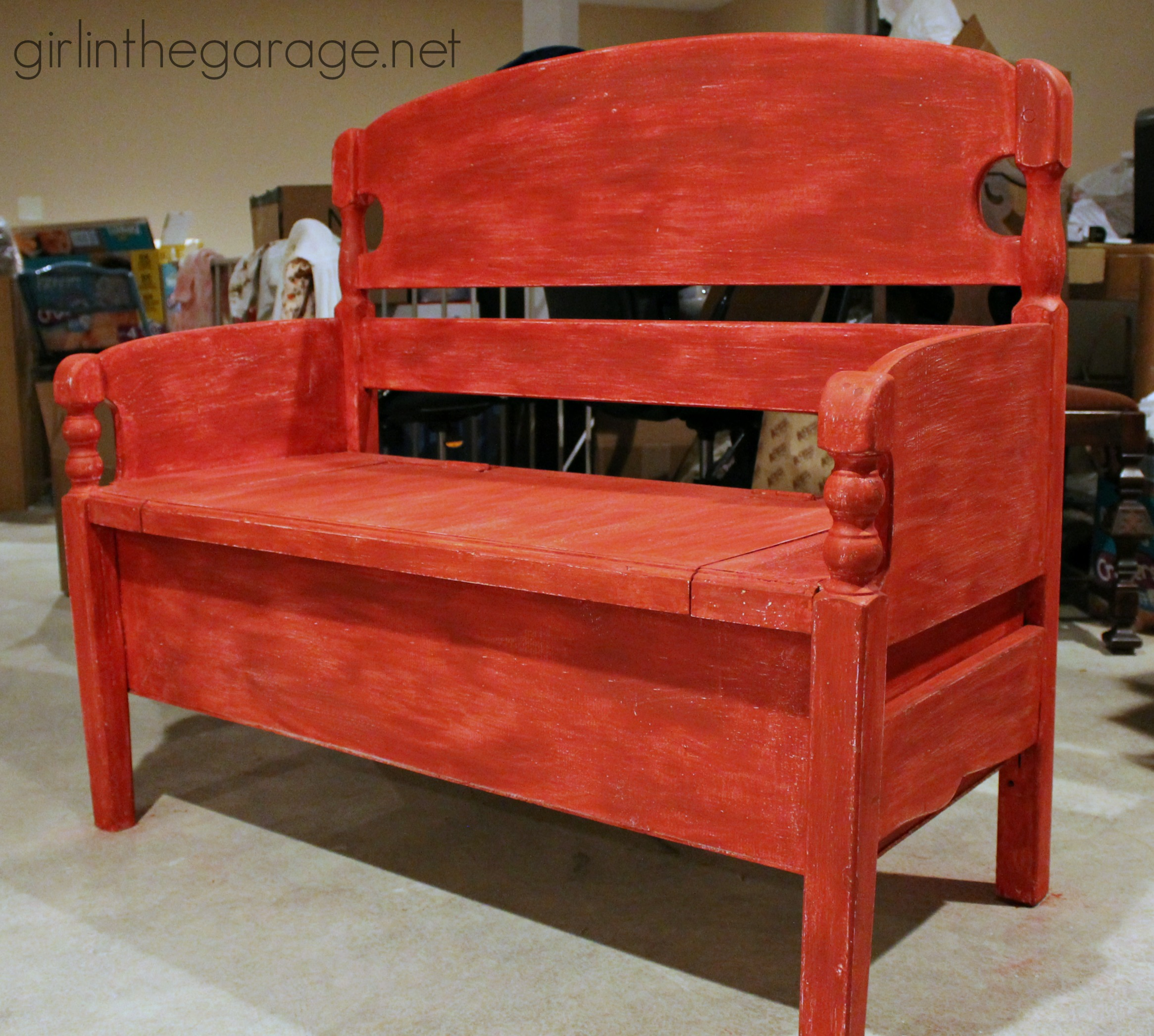 Headboard To Bench Distressed Headboard Bench Girl In The Garager