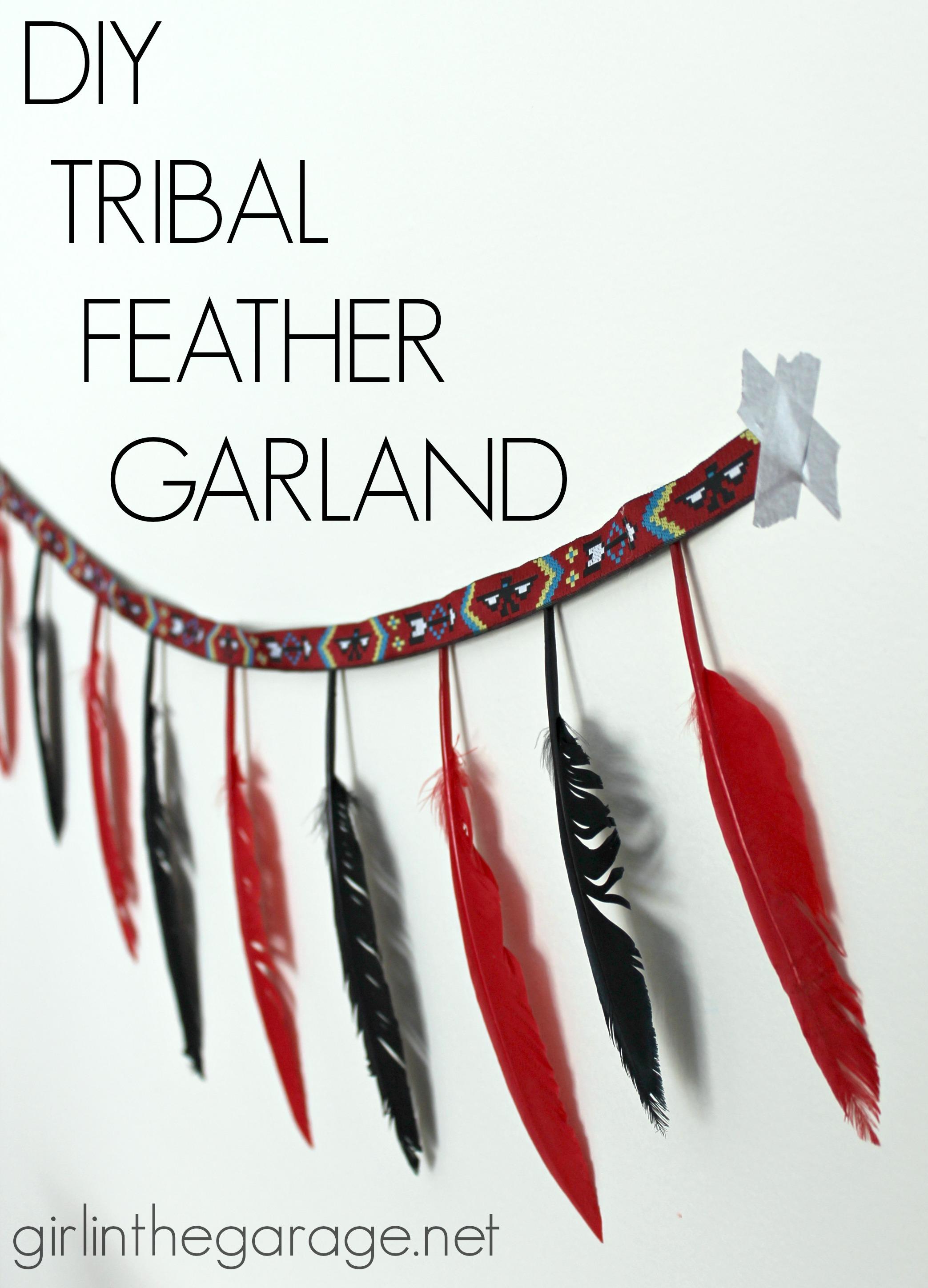 DIY Tribal Feather Garland | Girl in the Garage®