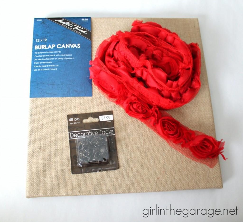 Supplies: Rose Heart Art {Valentine's Day Tour} I girlinthegarage.net