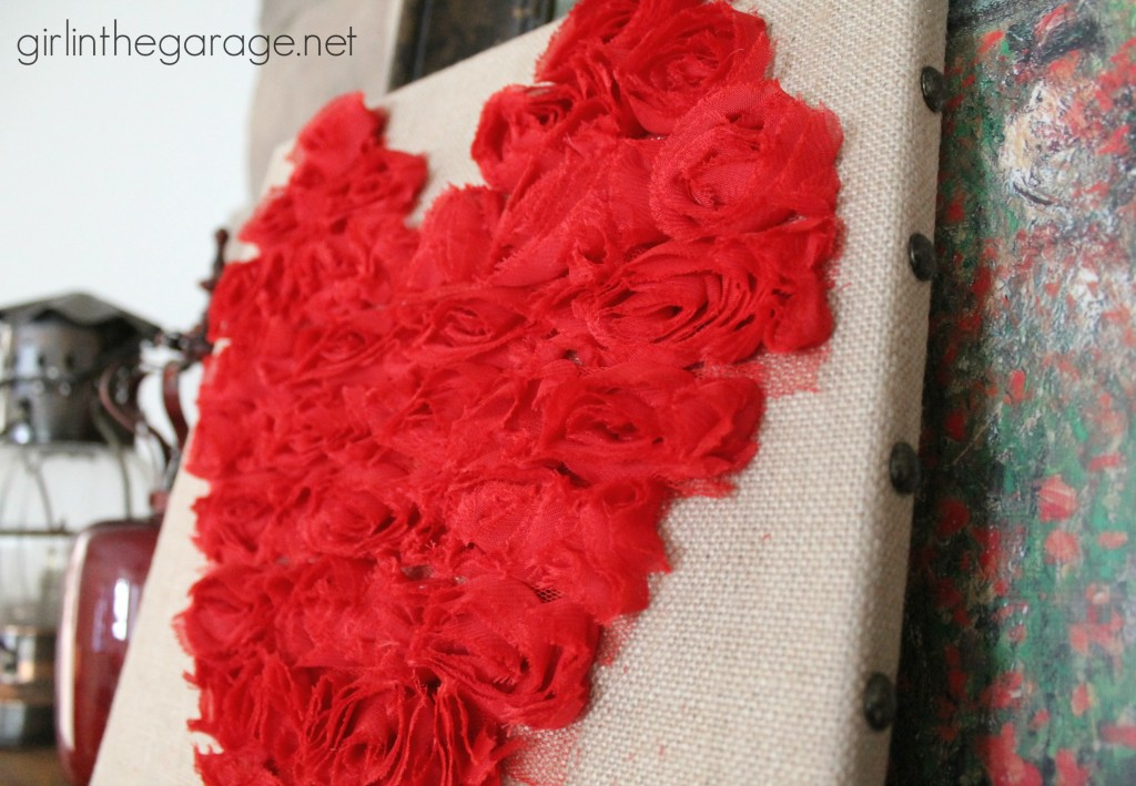 Rose Heart Art {Valentine's Day Tour} I girlinthegarage.net