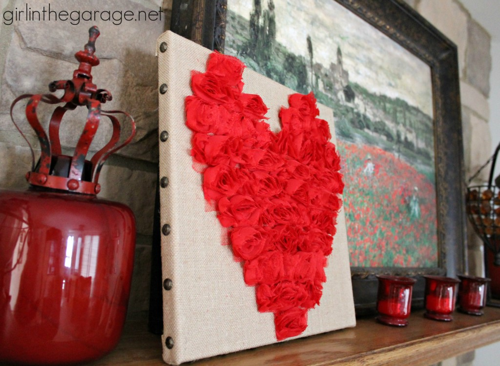 Rose Heart Art {Valentine's Day Tour} I girlinthegarage.net