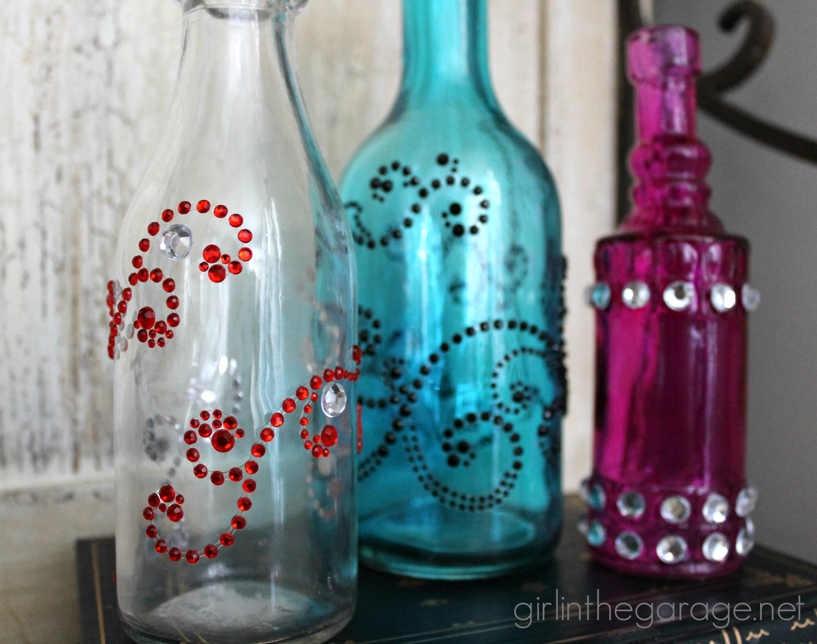 Bejeweled Bottles Michaels And Hometalk Pinterest Party