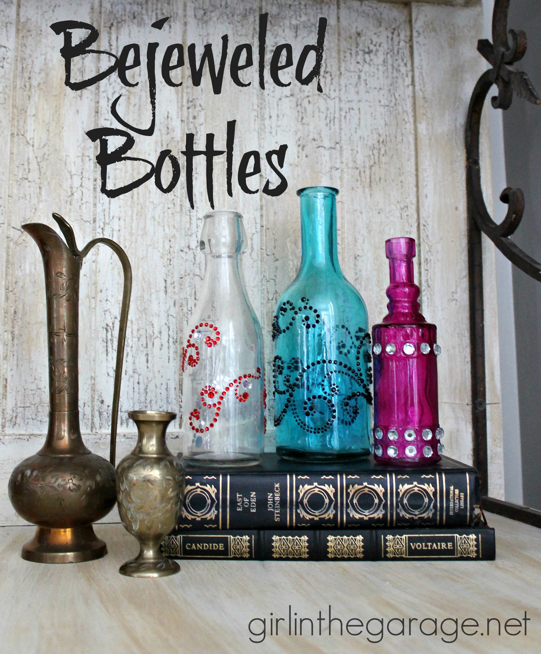 Bejeweled Bottles {Michaels and Hometalk Pinterest Party Craft ...