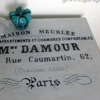 French Typography Table