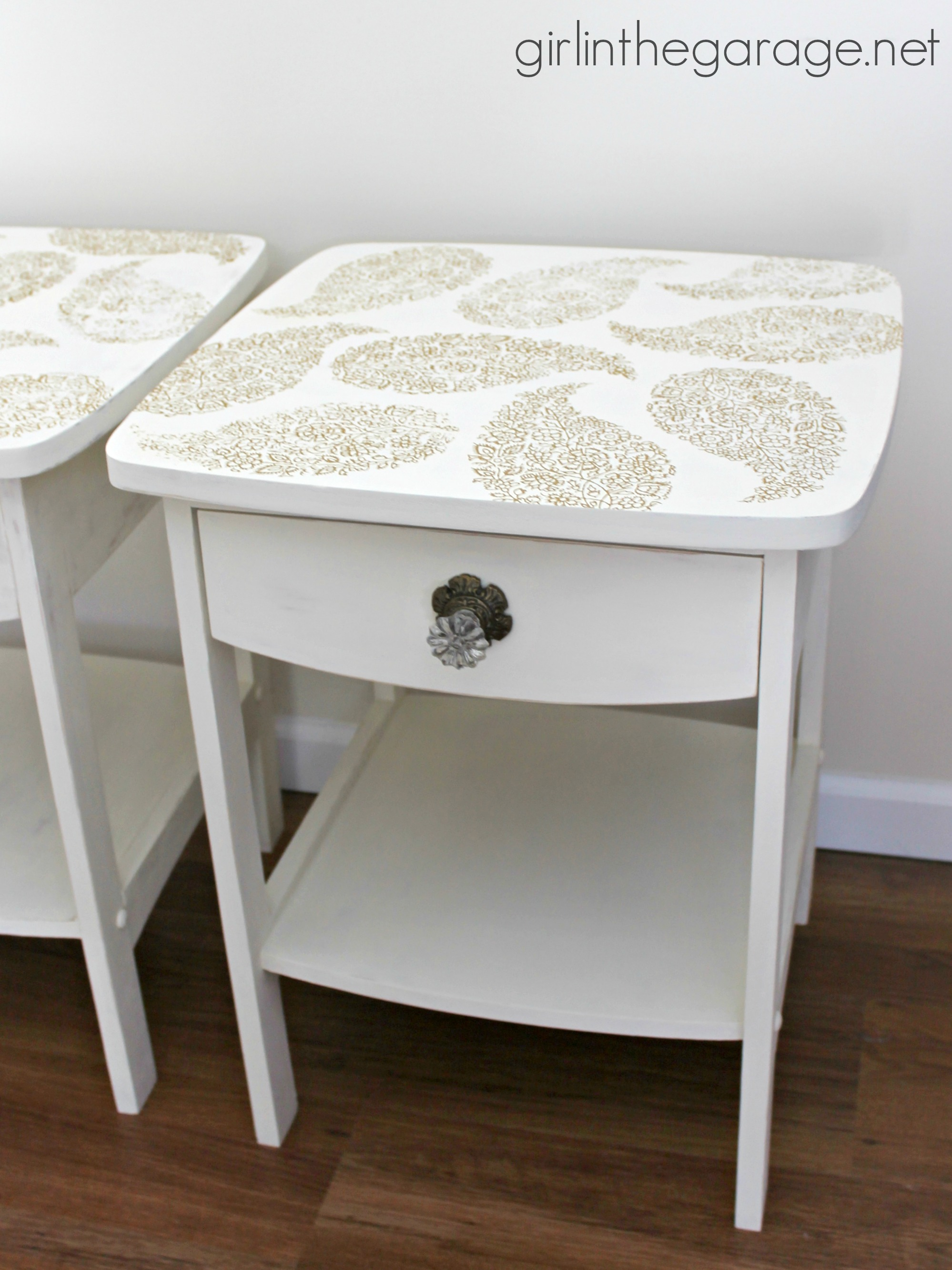 Pretty in Paisley Romance Themed Furniture Makeover  Girl in