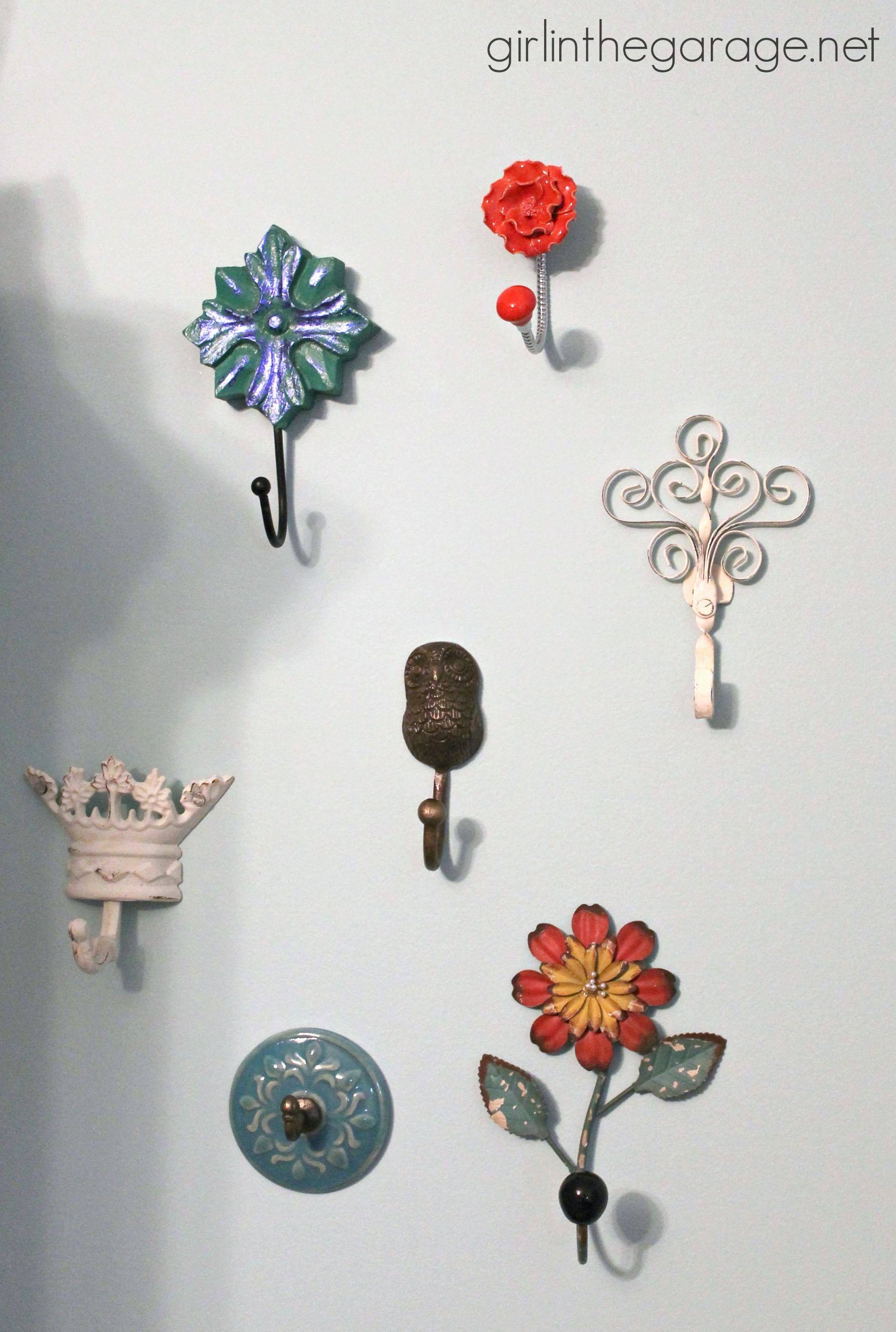 Decorative Wall Hooks As Jewelry Storage Girl In The Garage 174