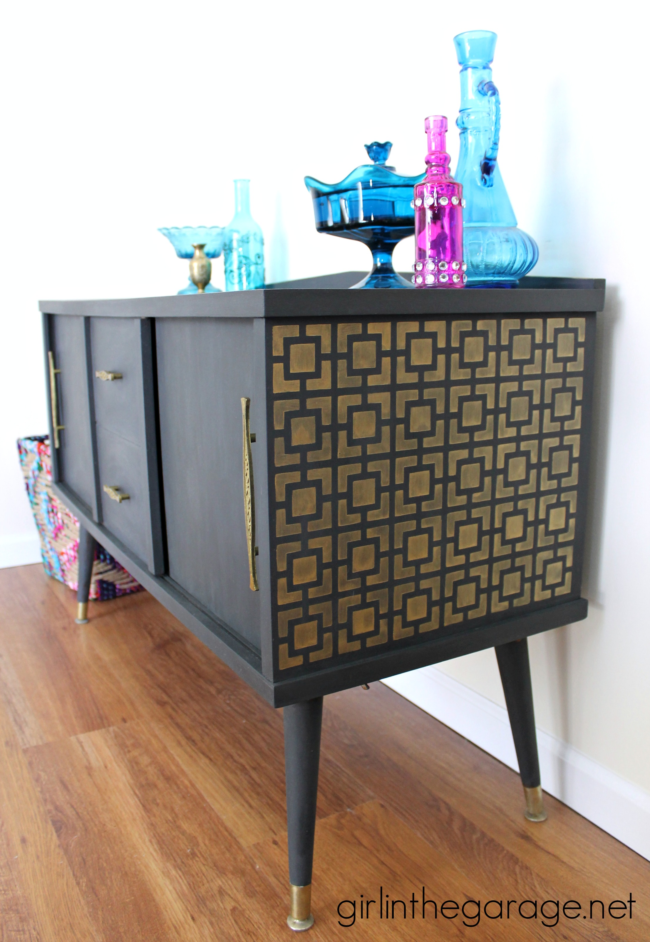 Midcentury makeover with a surprise girl in the garage for Painted mid century modern furniture