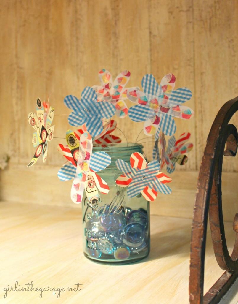 Washi Tape Wildflowers - Girl in the Garage