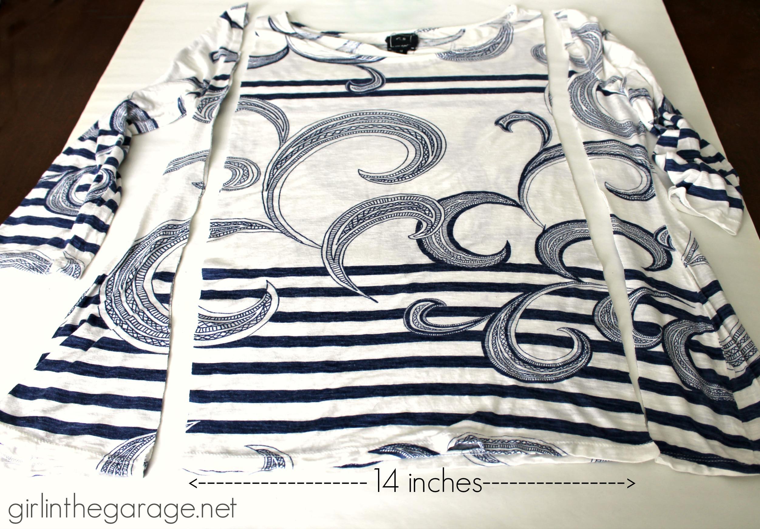 Shirt design easy - Easy Diy Tutorial T Shirt Into An Infinity Scarf Girlinthegarage Net