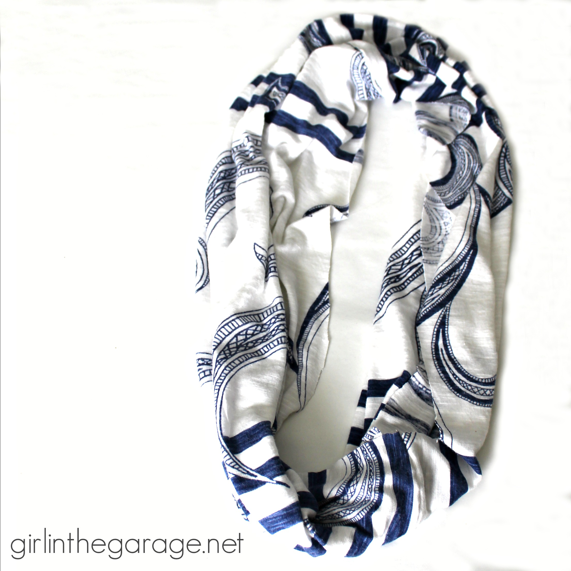 DIY: T-Shirt into Infinity Scarf | Girl in the Garage®
