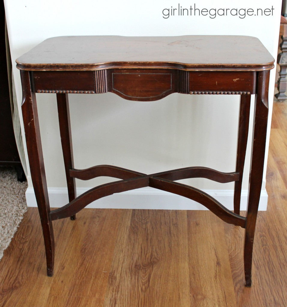 Before: Crown Table Makeover with Annie Sloan Chalk Paint. girlinthegarage.net