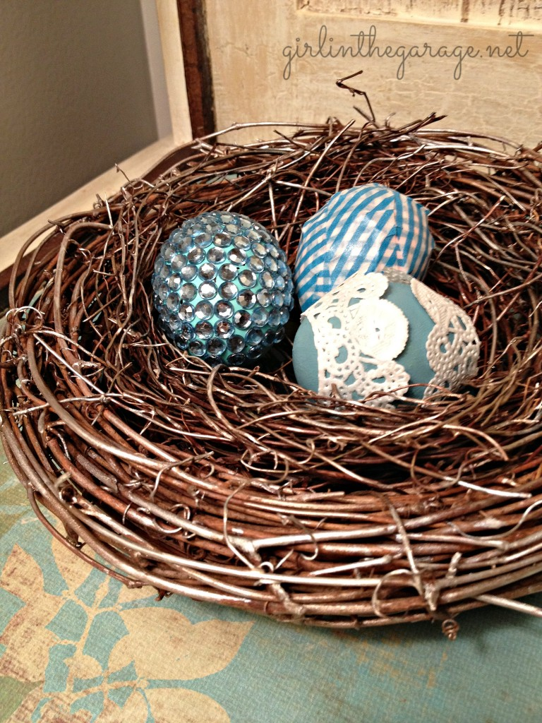Embellished Nest and Eggs - Girl in the Garage