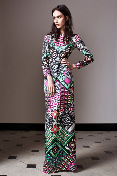 Temperley London abstract maxi dress