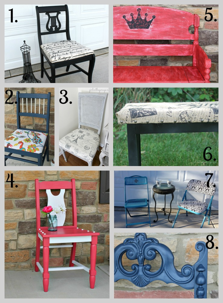 Chair and Bench Makeovers - girlinthegarage.net