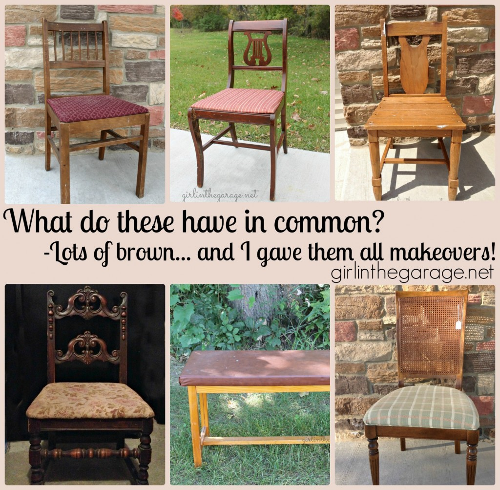 Tips on choosing the right chair to make over.  girlinthegarage.net