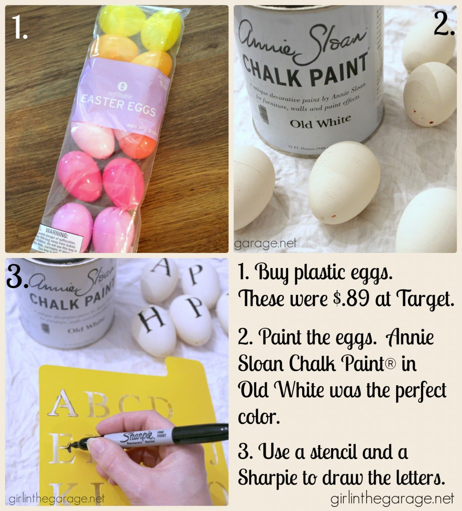 Easter Egg Garland inspired by Ballard Designs {Easter Craft and Decor Showcase} - girlinthegarage.net