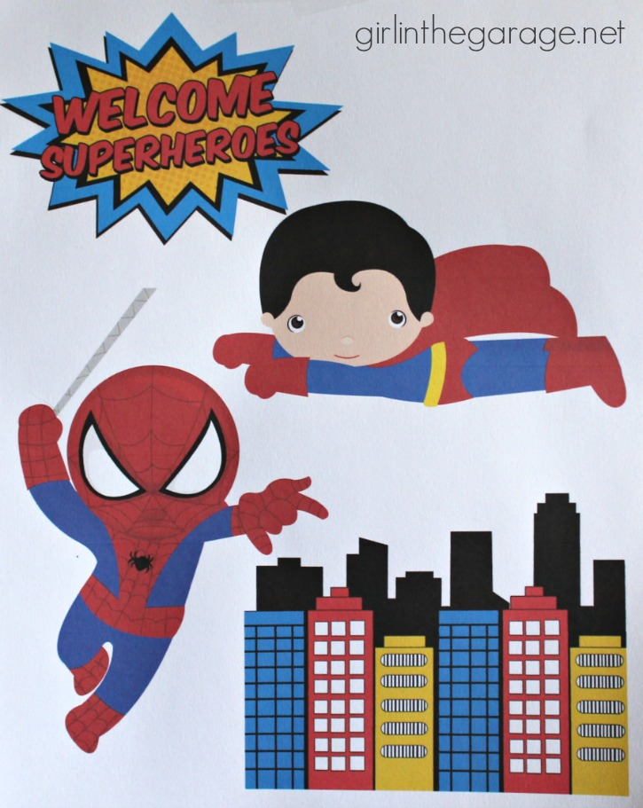 Superhero birthday party with DIY decorations!  girlinthegarage.net