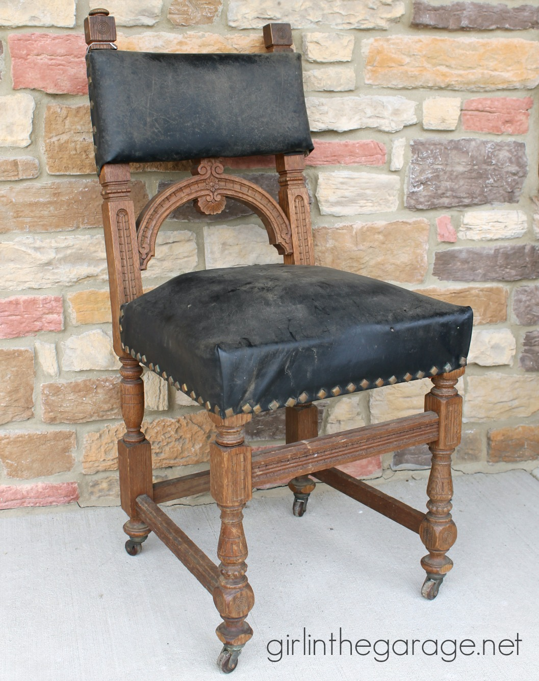 IMG_2591 Antique Wood Chair Yard Sale
