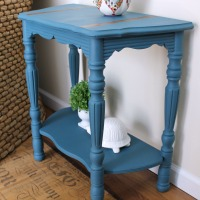 Aubusson Blue Demilune Table Girl In The Garage 174