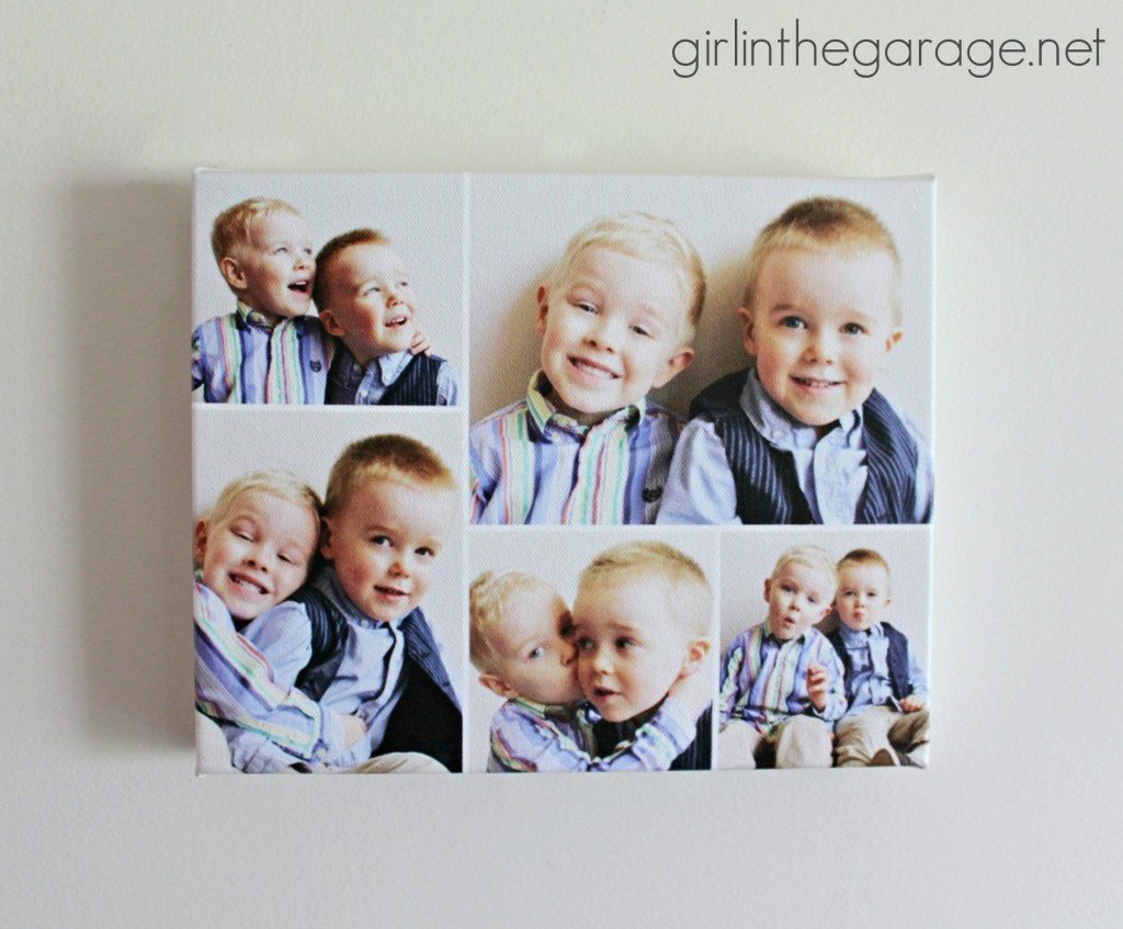 Photo canvas art: Perfect gift for Mother's Day or any occasion.  girlinthegarage.net