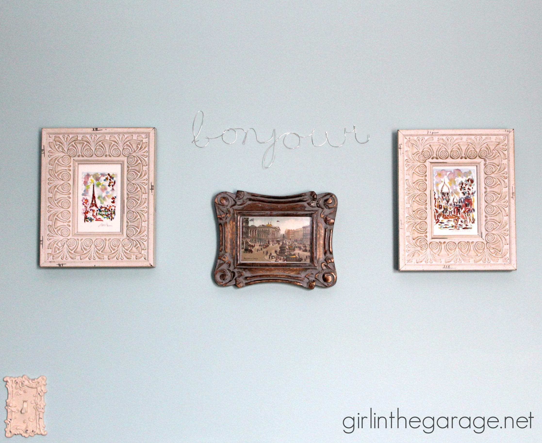 DIY Wall Art: Framed Paris Prints and Anthropologie-Inspired Bonjour ...