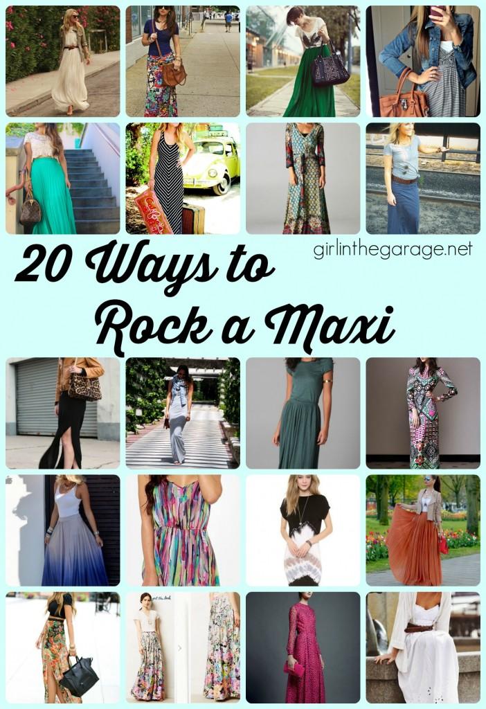 20 Ways to Rock a Maxi Skirt or Dress