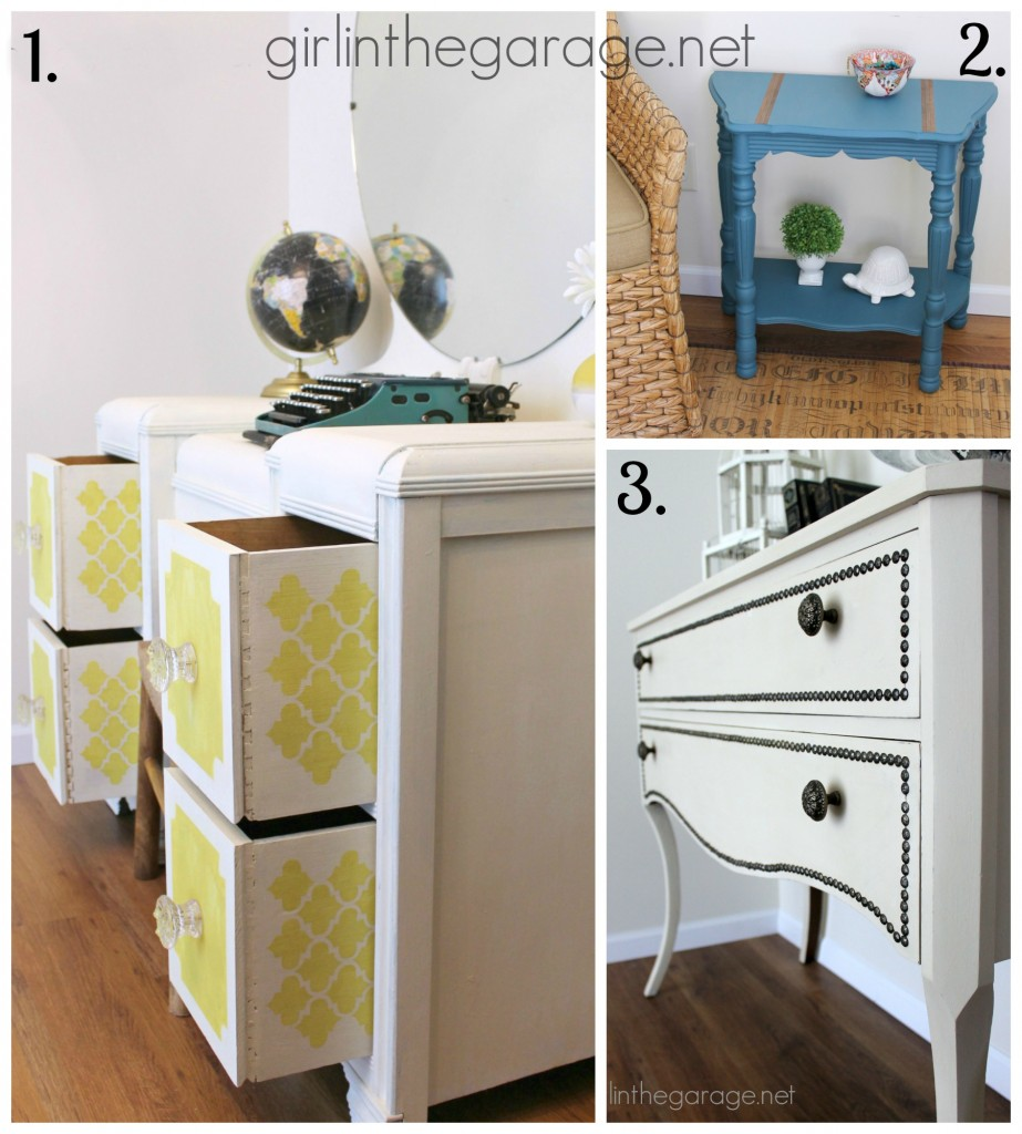 Furniture Makeovers {April 2014} - girlinthegarage.net