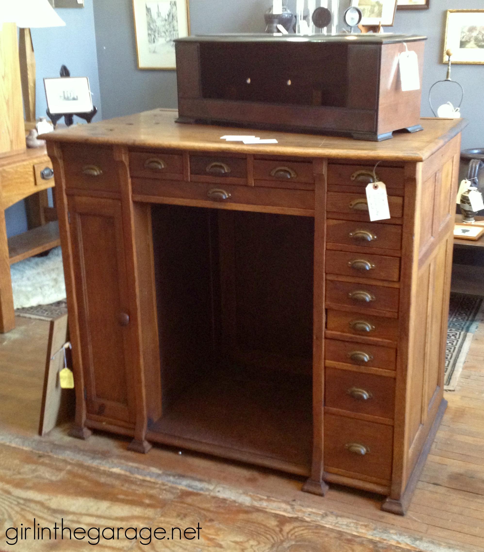 Img 2159 Midland Antique Wood Desk Drawers