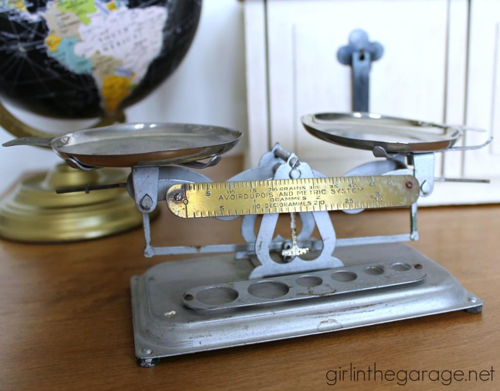 Vintage scale - girlinthegarage.net