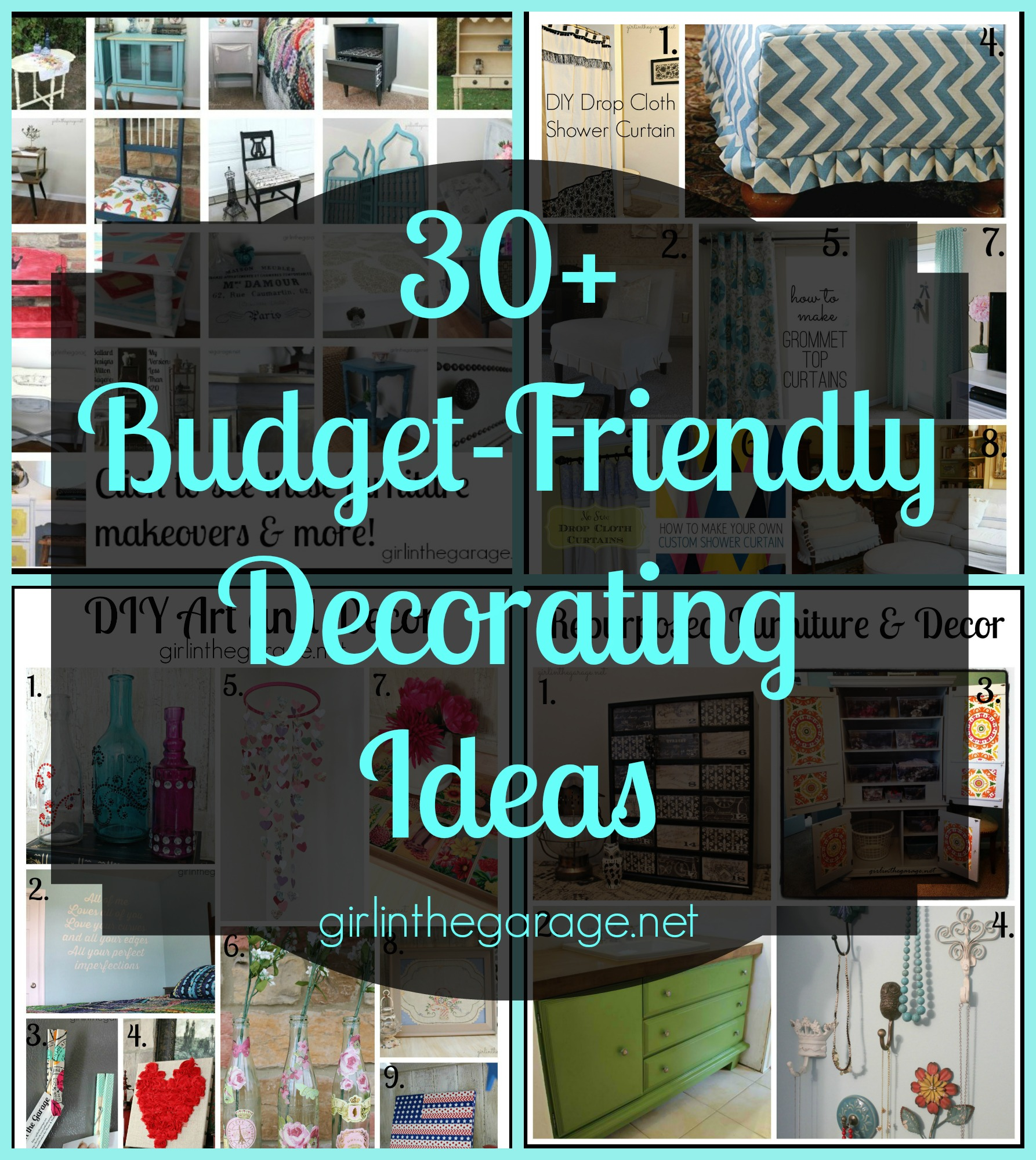 30 budget friendly diy decorating ideas girl in the garage Decorating on a budget