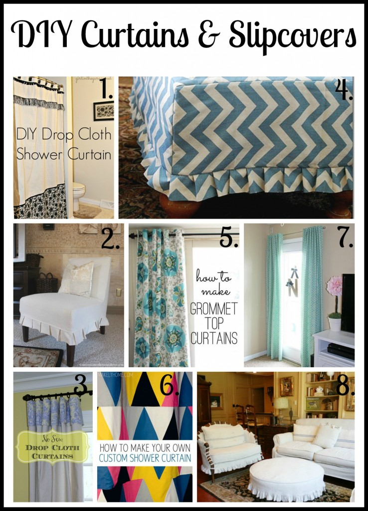 DIY Curtains and Slipcovers - gathered by girlinthegarage.net