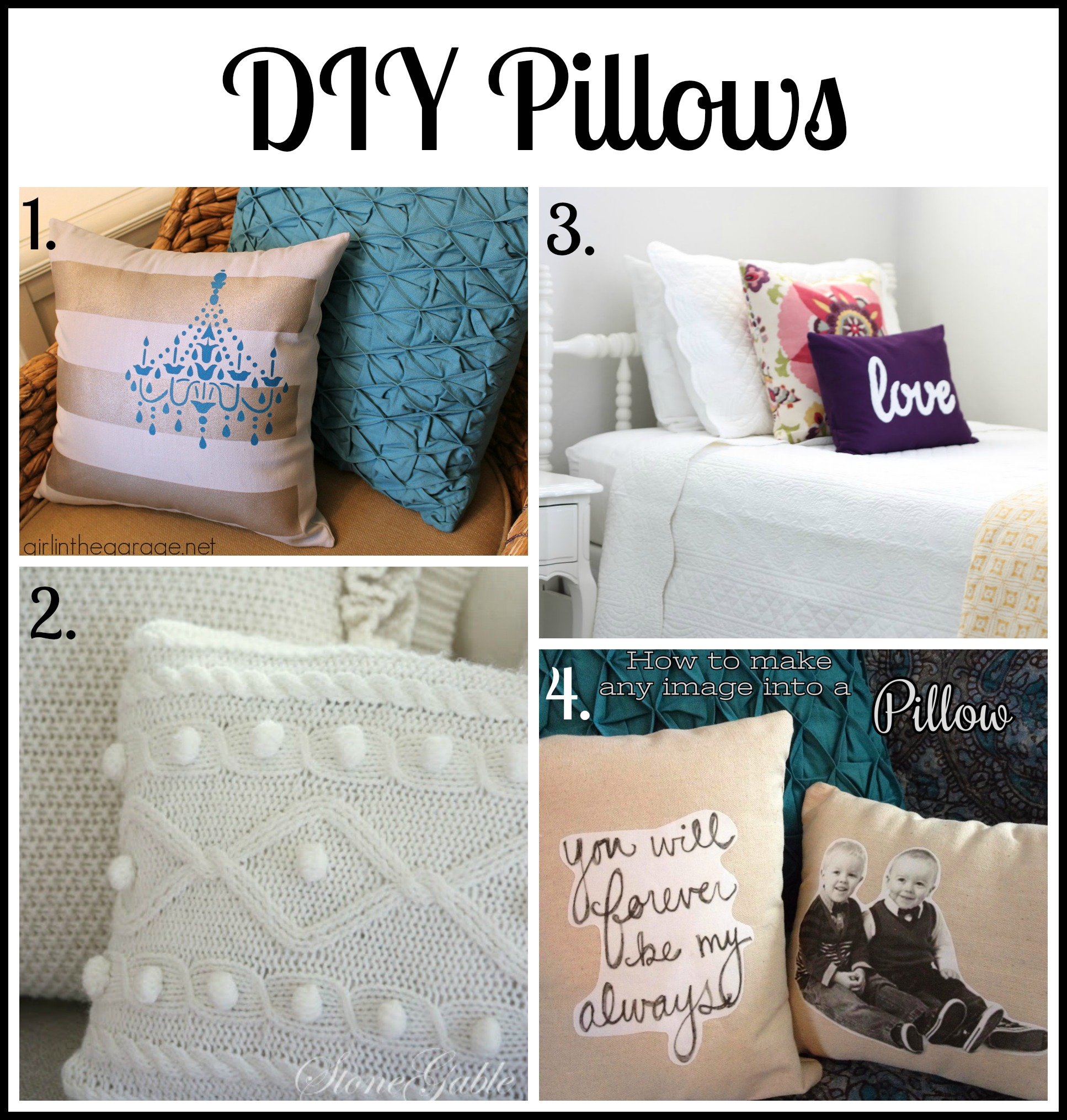 Diy Decorative Pillow Ideas: 30+ Budget Friendly DIY Decorating Ideas   Girl in the Garage®,