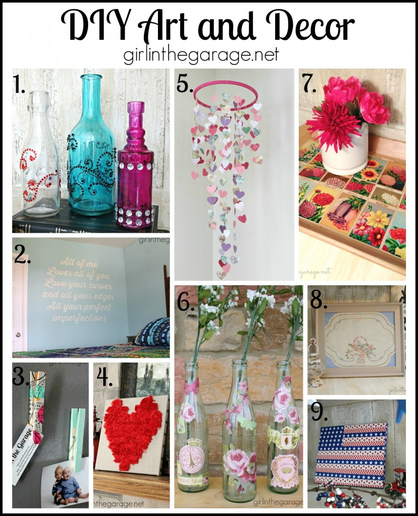 DIY Art and Decor - girlinthegarage.net
