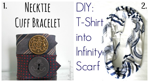 Necktie Cuff Bracelet and DIY Infinity Scarf by Girl in the Garage.